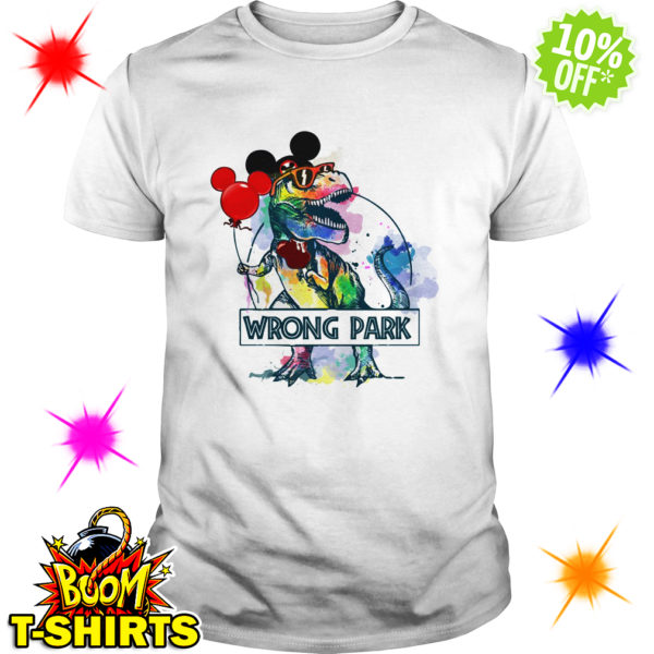 Dinosaur T-rex Mickey Mouse Disney wrong Park shirt