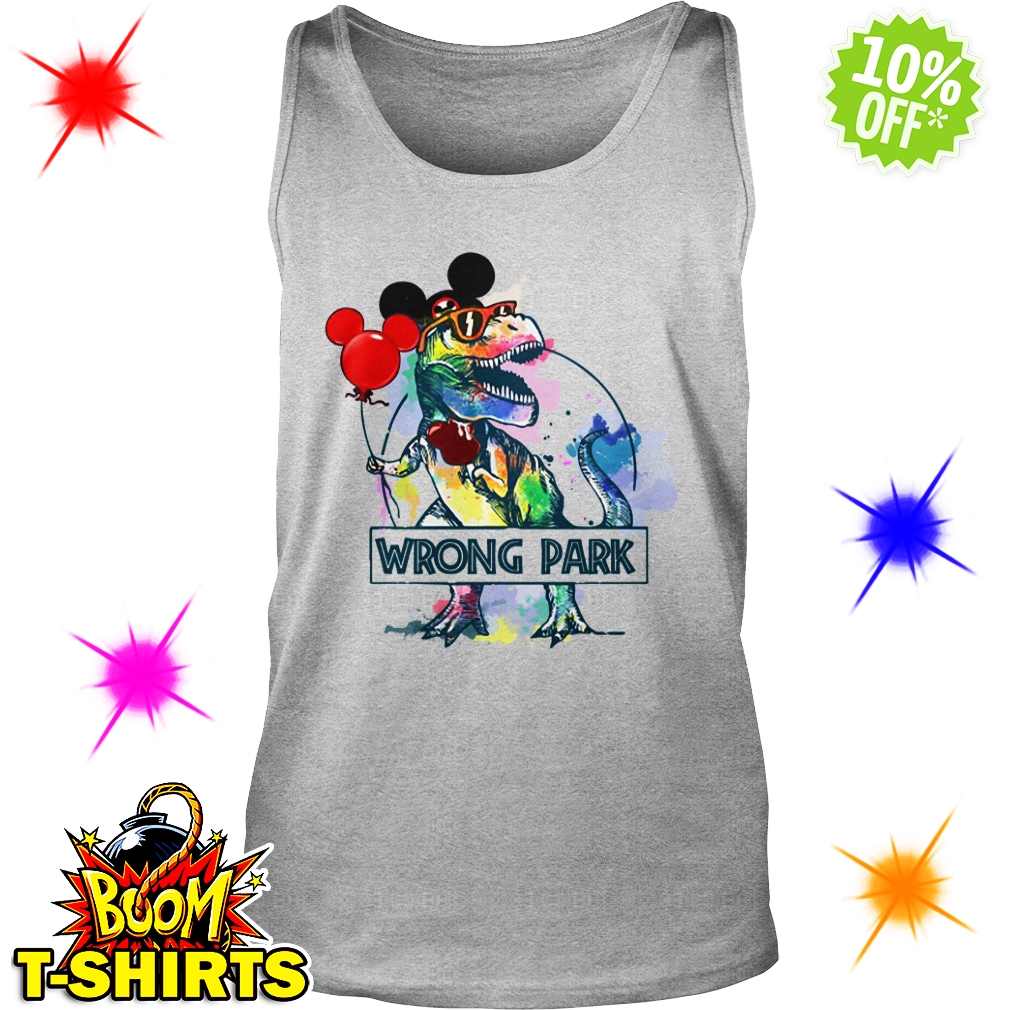 Dinosaur T-rex Mickey Mouse Disney wrong Park tank top