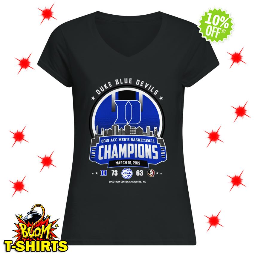 Duke Blue Devils 2019 ACC Men's Basketball Champions March 16 2019 lady shirt