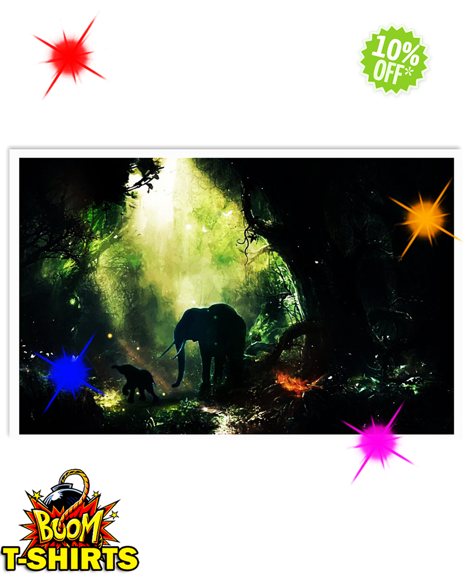 Elephant In The Jungle 17x11 Poster