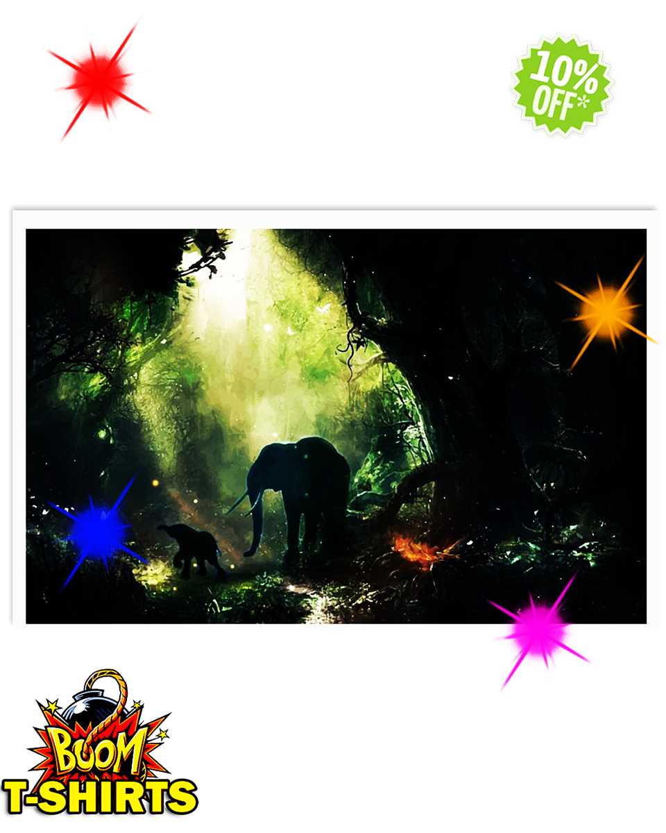 Elephant In The Jungle 24x16 Poster