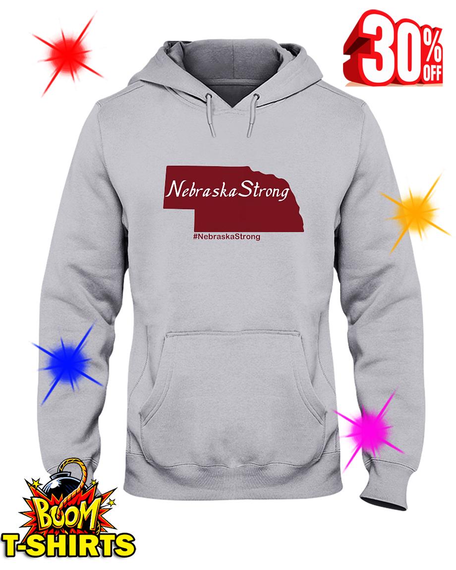 Flood Relief Nebraska Strong hooded sweatshirt