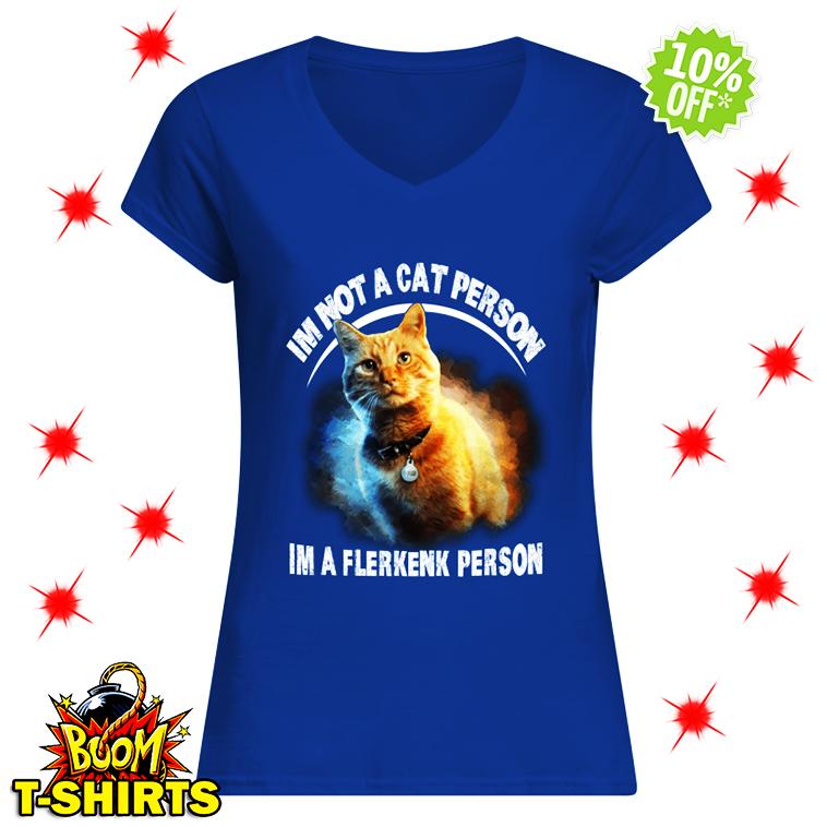 Goose Cat I'm Not A Cat Person I'm A Flerkenk Person v-neck