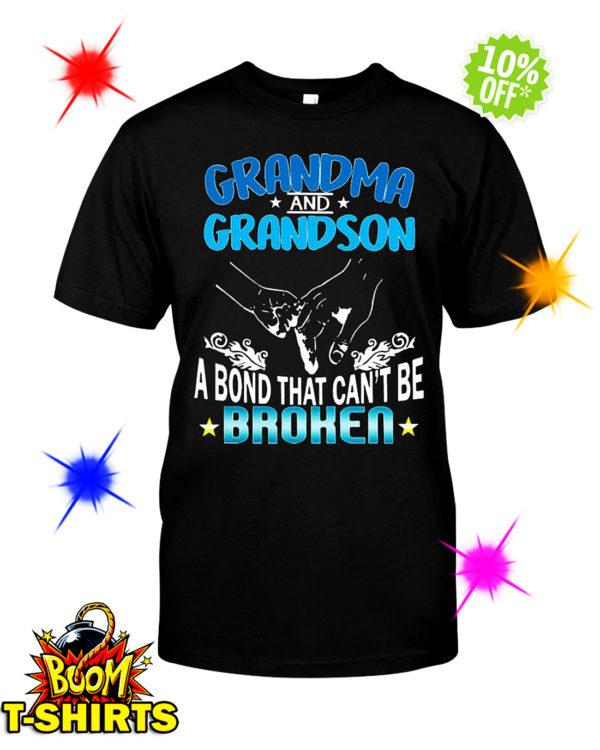 Grandma and Grandson a bond that can't be broken shirt