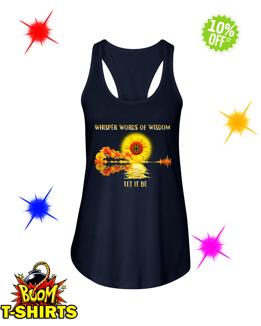 Guitar Sunflower Whisper Words Of Wisdom Let It Be flowy tank