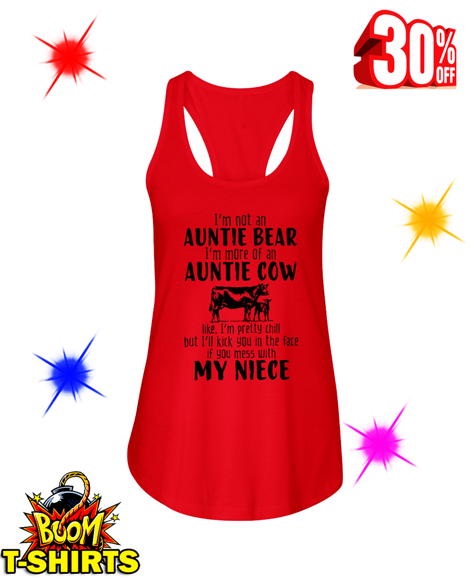 I'm Not An Auntie Bear I'm More Of An Auntie Cow flowy tank