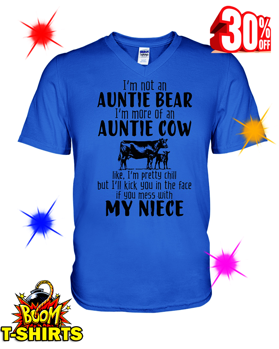 I'm Not An Auntie Bear I'm More Of An Auntie Cow v-neck