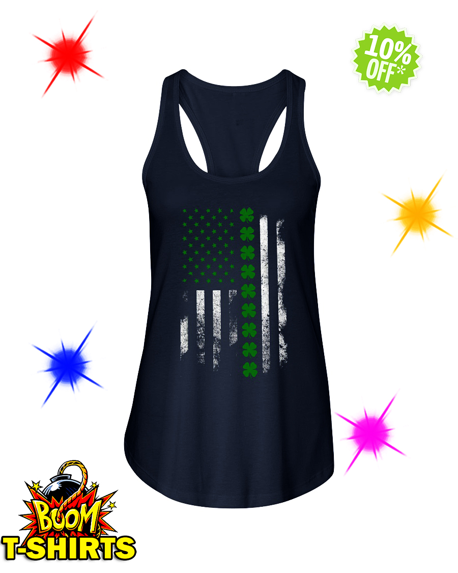 Irish American Flag St. Patrick's Day flowy tank
