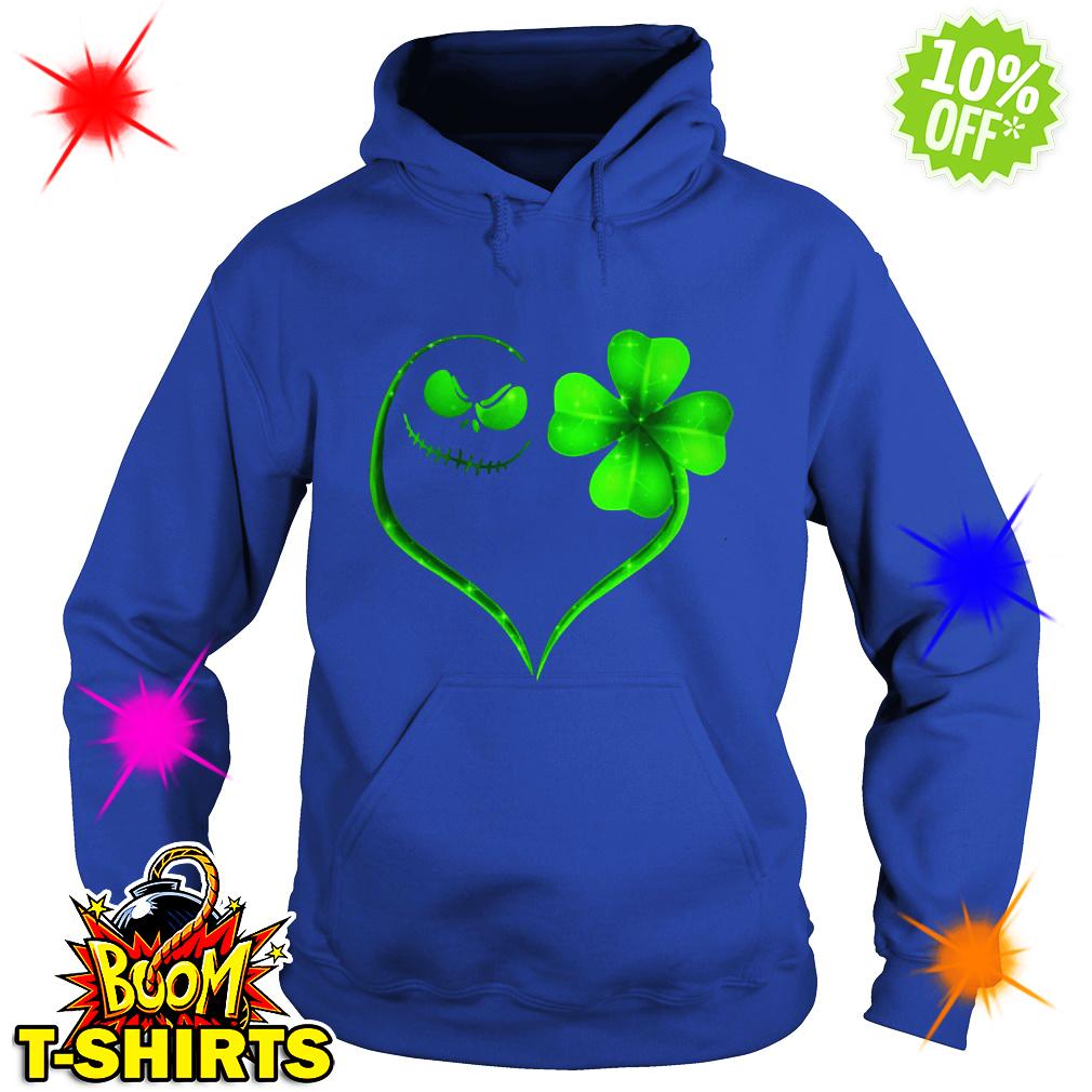 Jack Skellington Irish Heart ST Patrick's Day hoodie