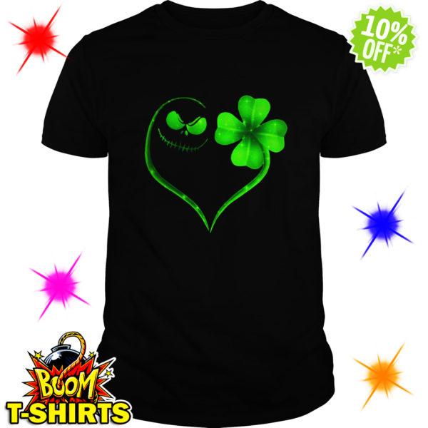 Jack Skellington Irish Heart ST Patrick's Day shirt