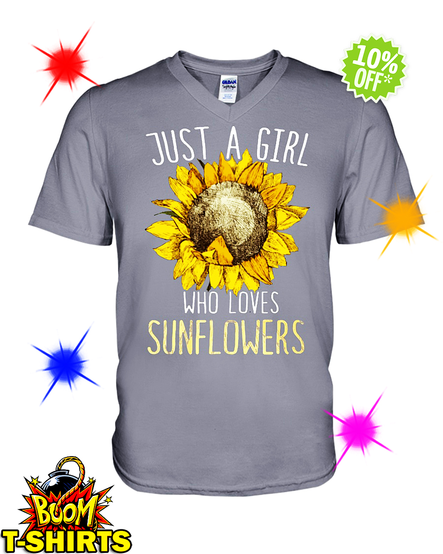 Just a girl who loves Sunflowers v-neck