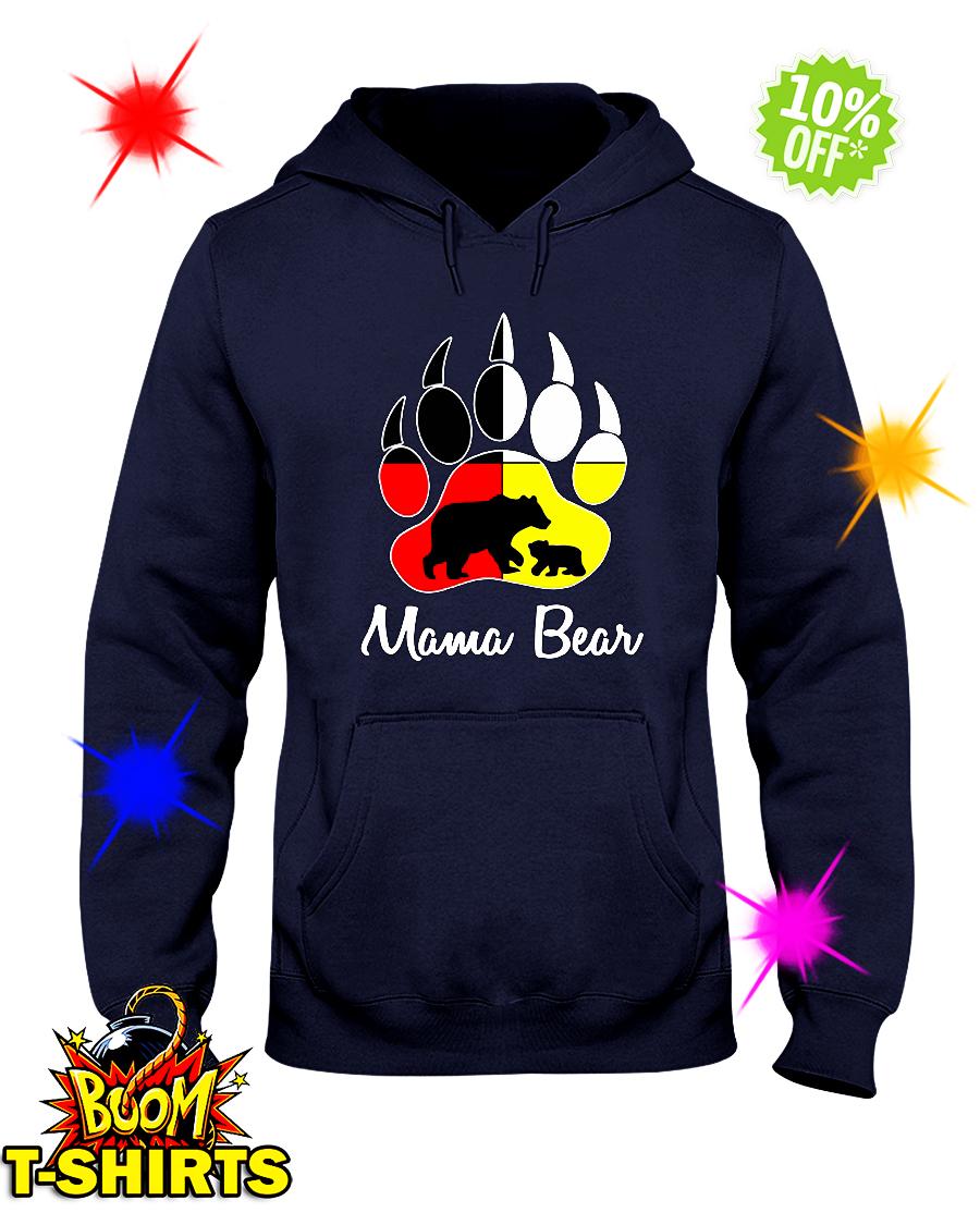 Mama bear Native American Flags hoodie