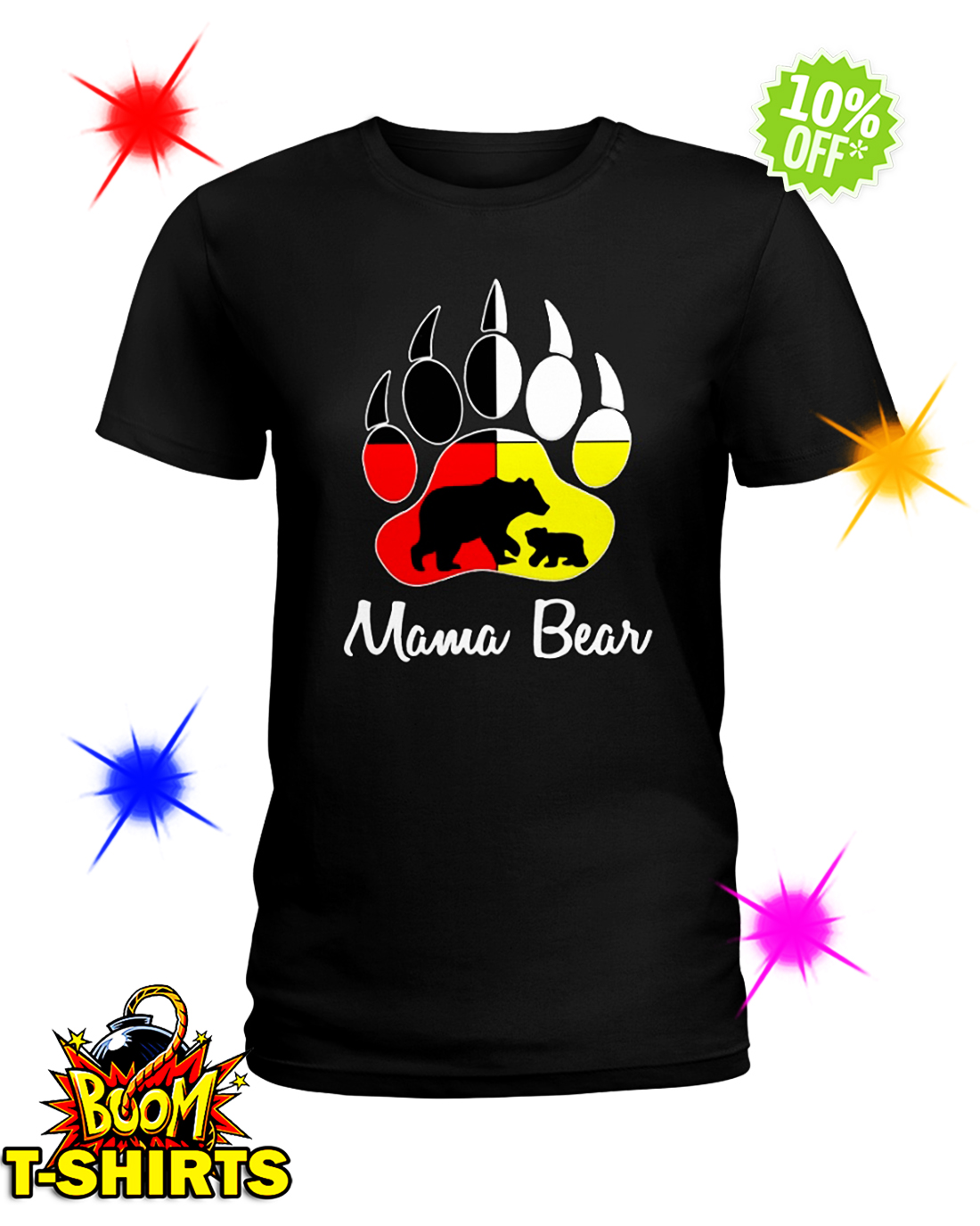 Mama bear Native American Flags shirt