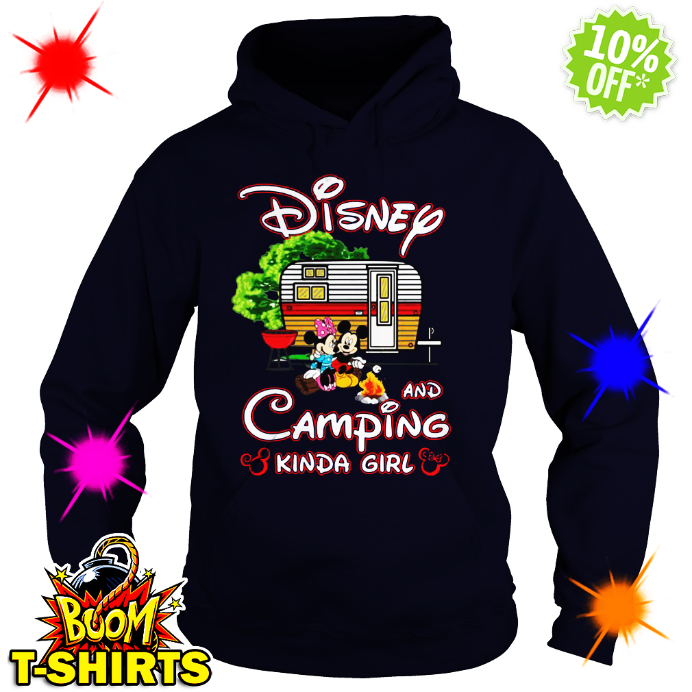 Mickey Disney and camping kinda girl hoodie