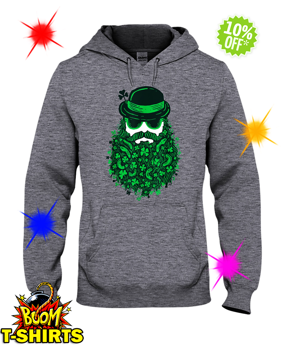 Moustache Leprechauns Irish St. Patrick's Day hooded sweatshirt
