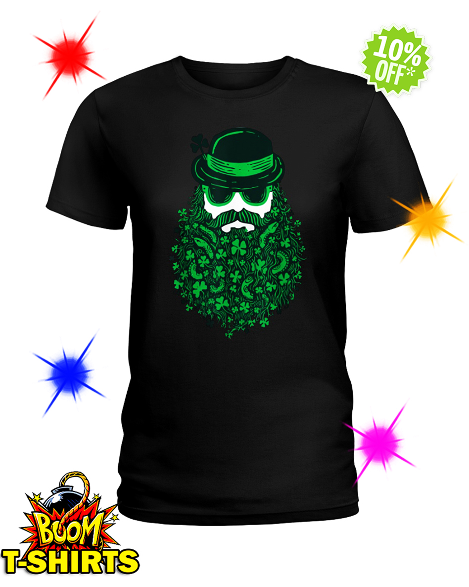 Moustache Leprechauns Irish St. Patrick's Day lady shirt