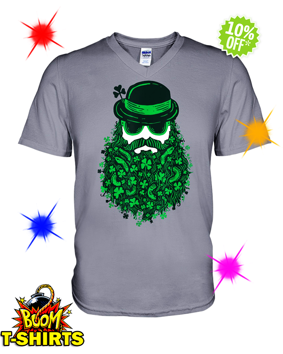 Moustache Leprechauns Irish St. Patrick's Day v-neck