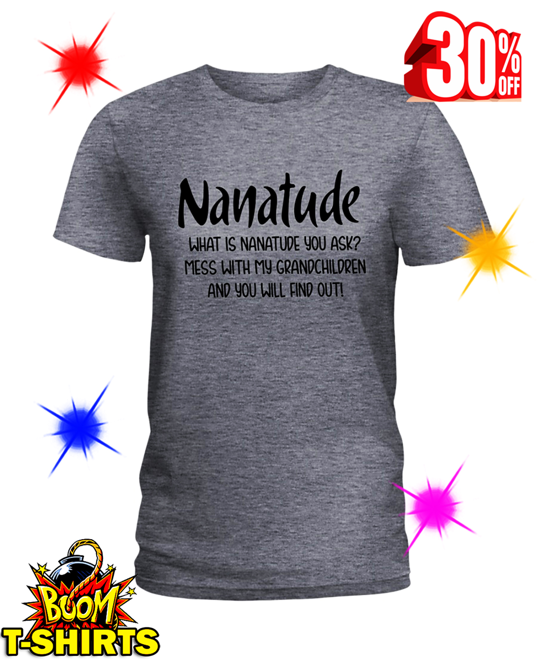 Nanatude What is Nanatude You Ask Mess With My Grandchildren and You Will Find Out shirt
