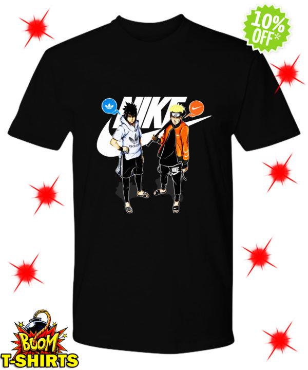 Naruto Nike and Sasuke Adidas shirt