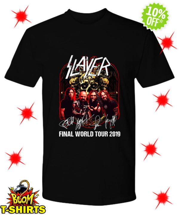 Slayer signatures final world tour 2019 shirt