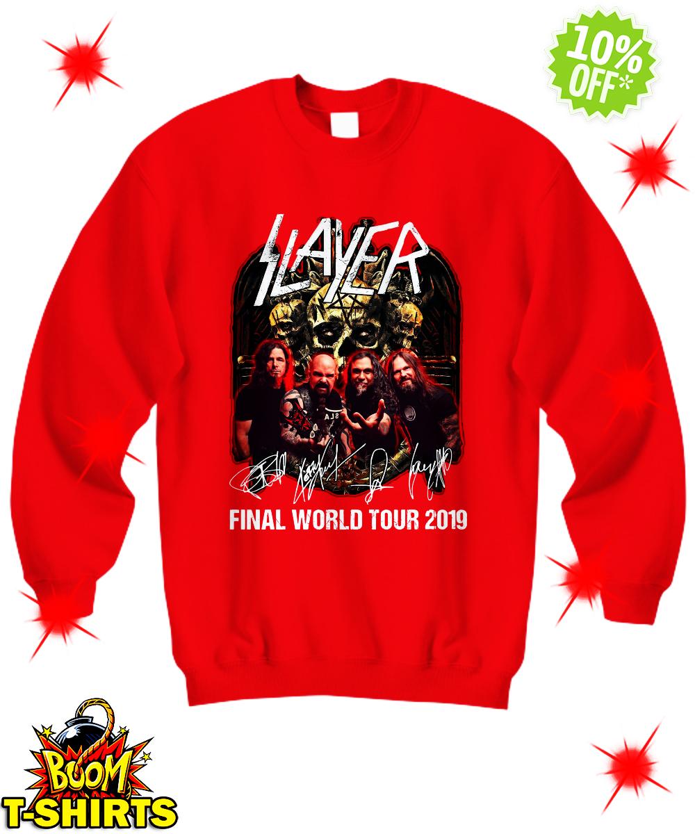 Slayer signatures final world tour 2019 sweatshirt