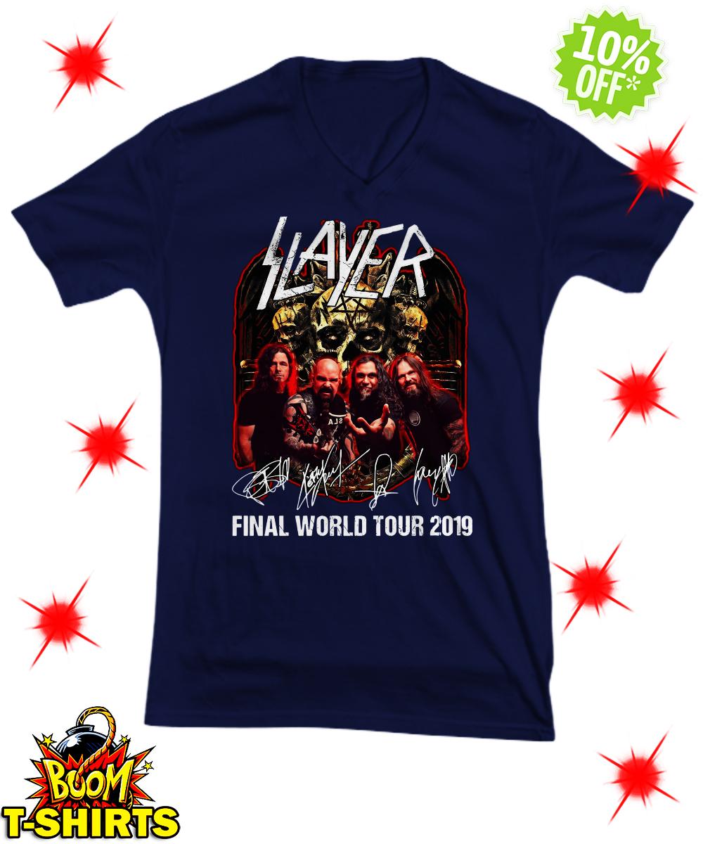 Slayer signatures final world tour 2019 v-neck