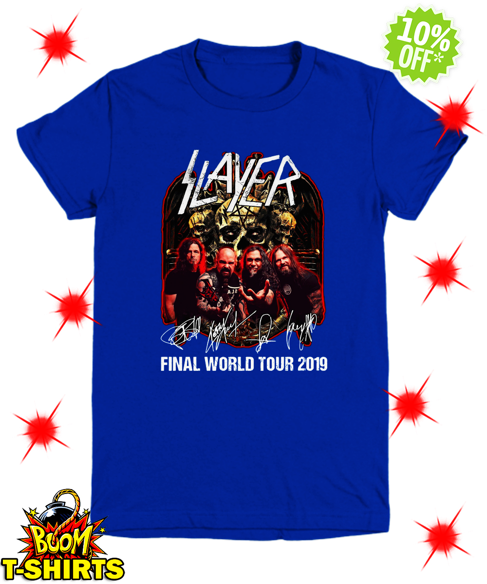 Slayer signatures final world tour 2019 youth tee