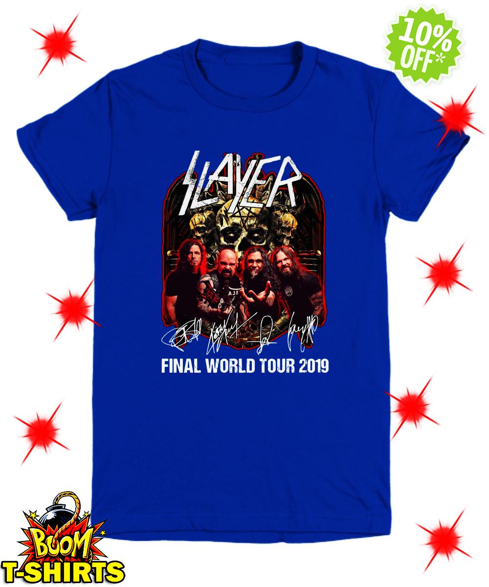 Slayer signatures final world tour 2019 youth tee
