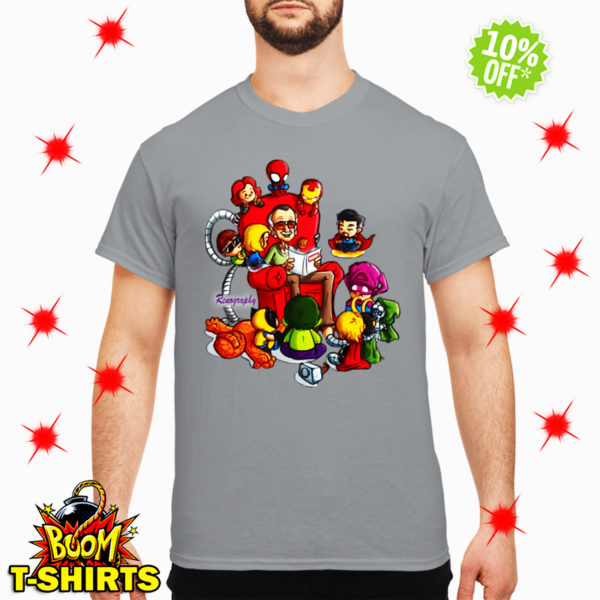 Stan Lee Marvel and Superhero Renography shirt