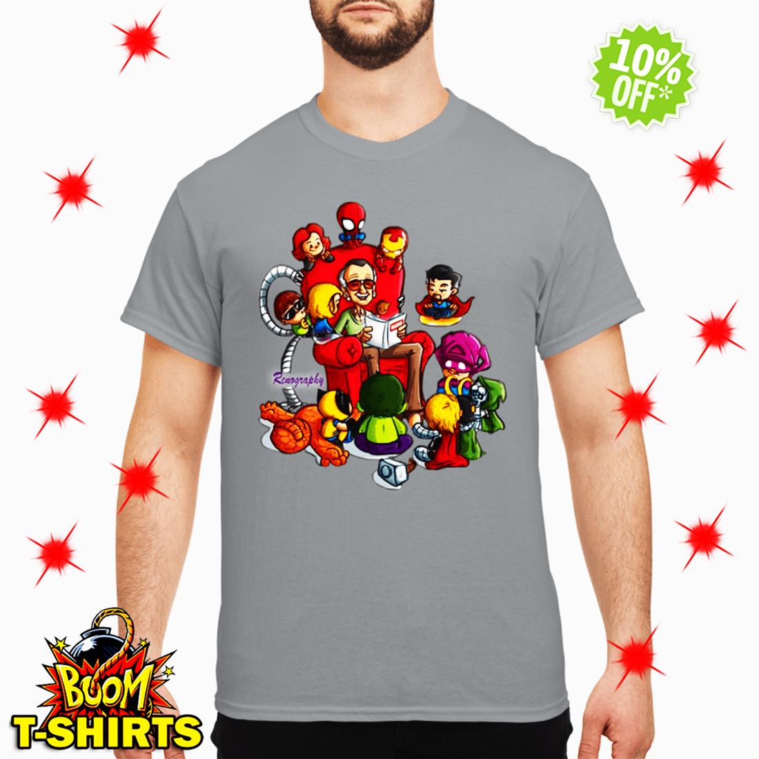 Stan Lee Marvel and Superhero Renography shirt