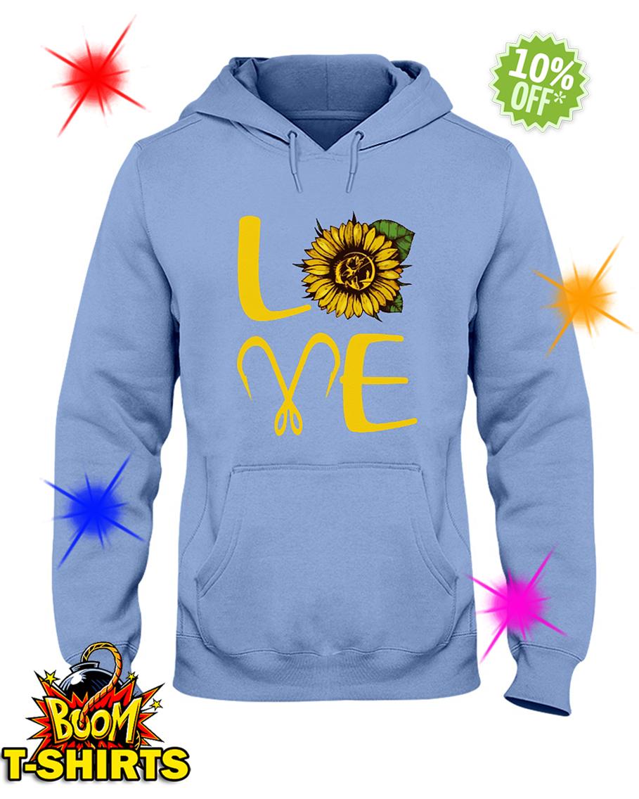 Sunflower Love Fishing hooded sweatshirt