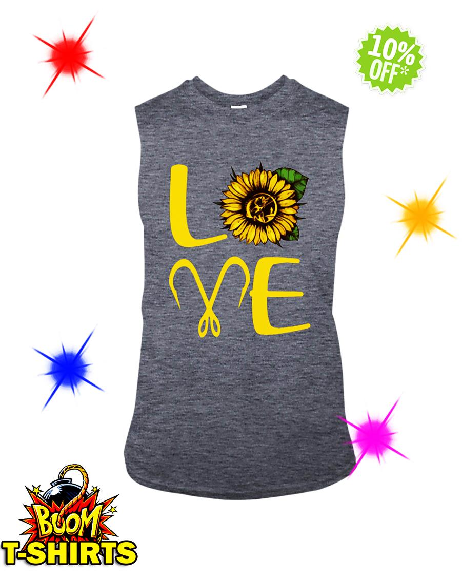 Sunflower Love Fishing sleeveless tee