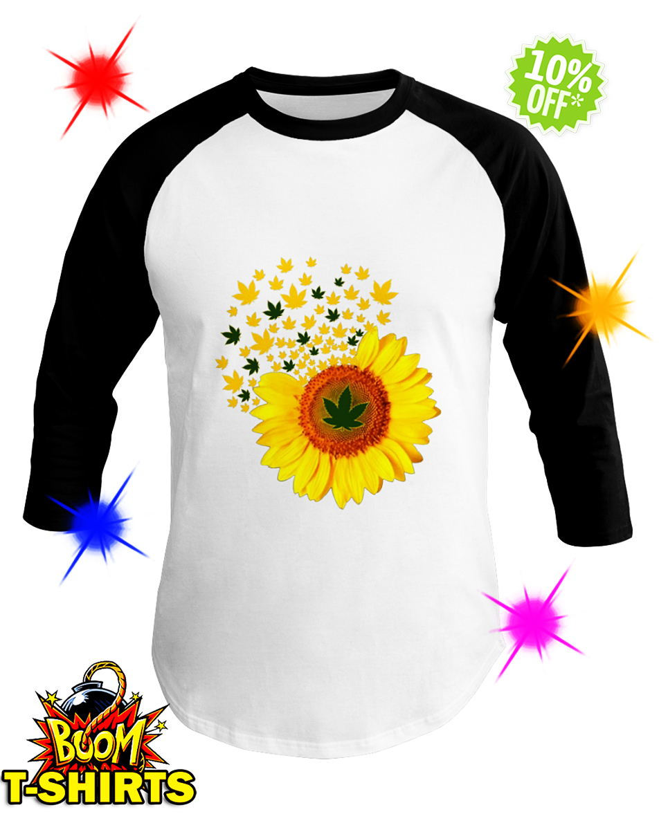 Sunflower Smoke Weed baseball tee