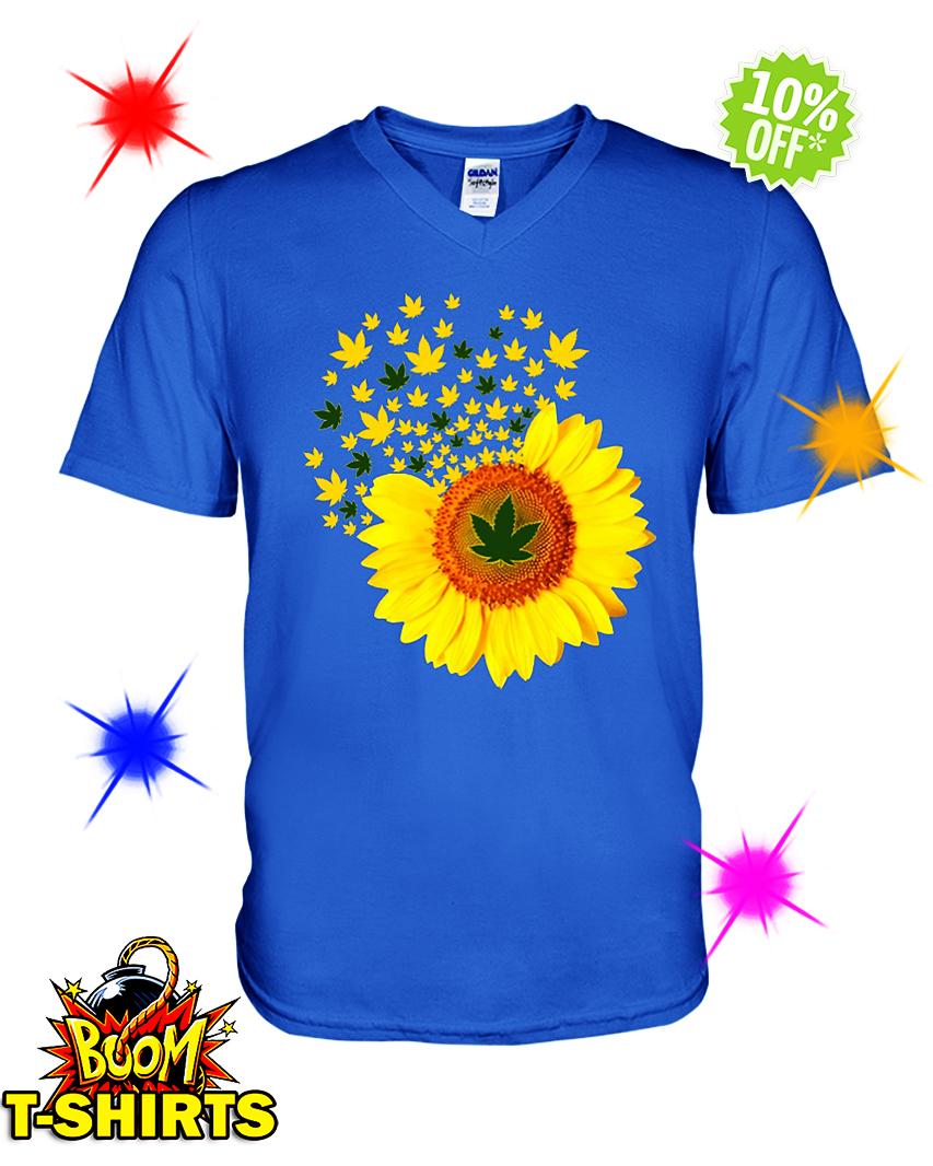Sunflower Smoke Weed v-neck