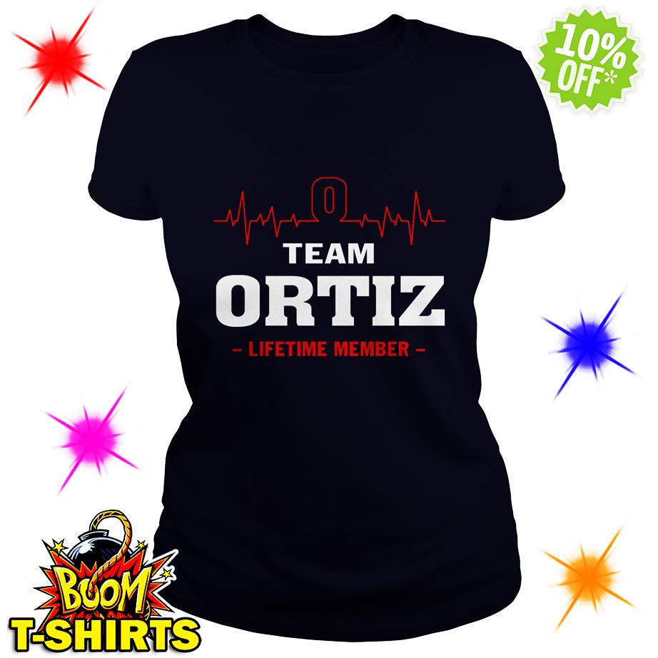Team Ortiz lifetime member lady shirt