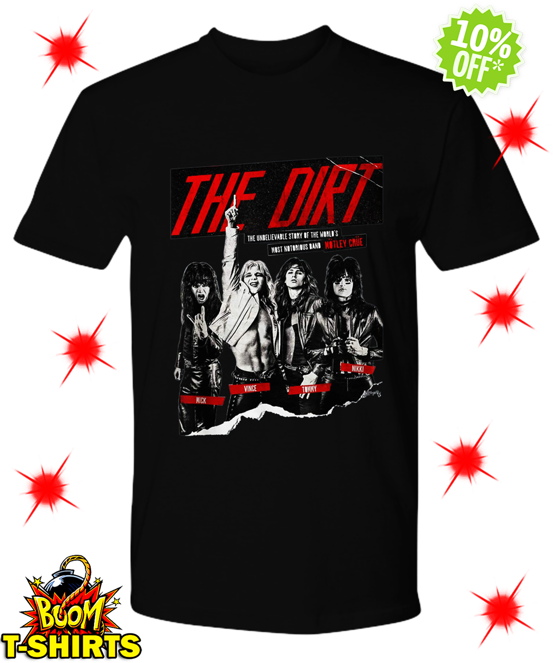 The Dirt Motley Crue shirt