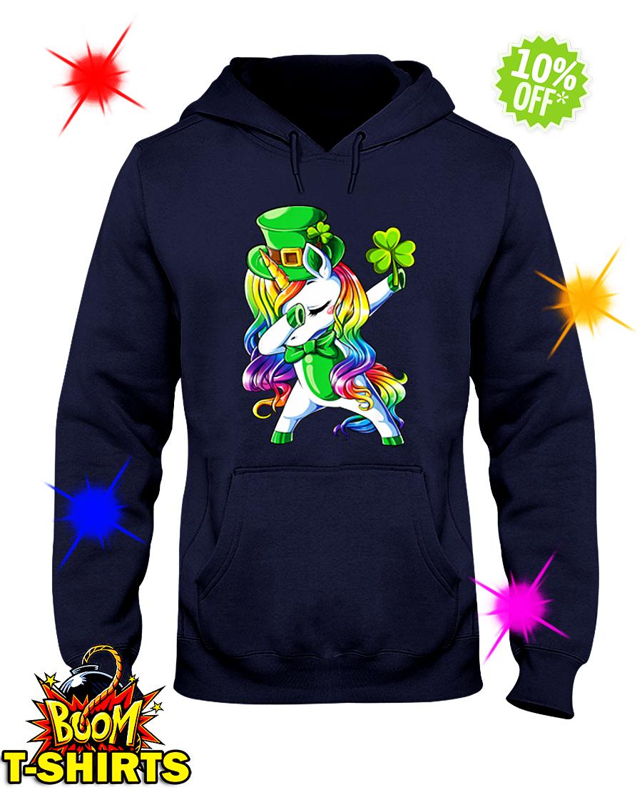 Unicorn dabbing irish shamrock hoodie