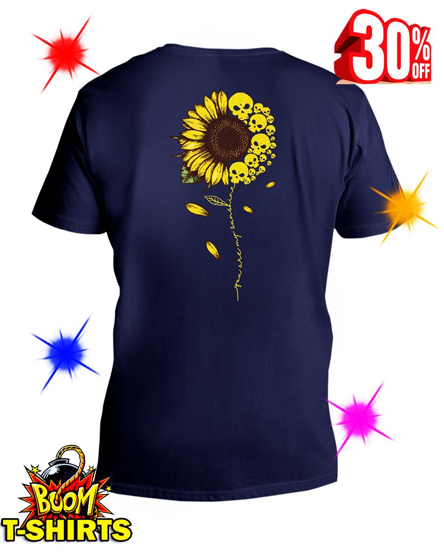 You Are My Sunshine Skull Sunflower v-neck
