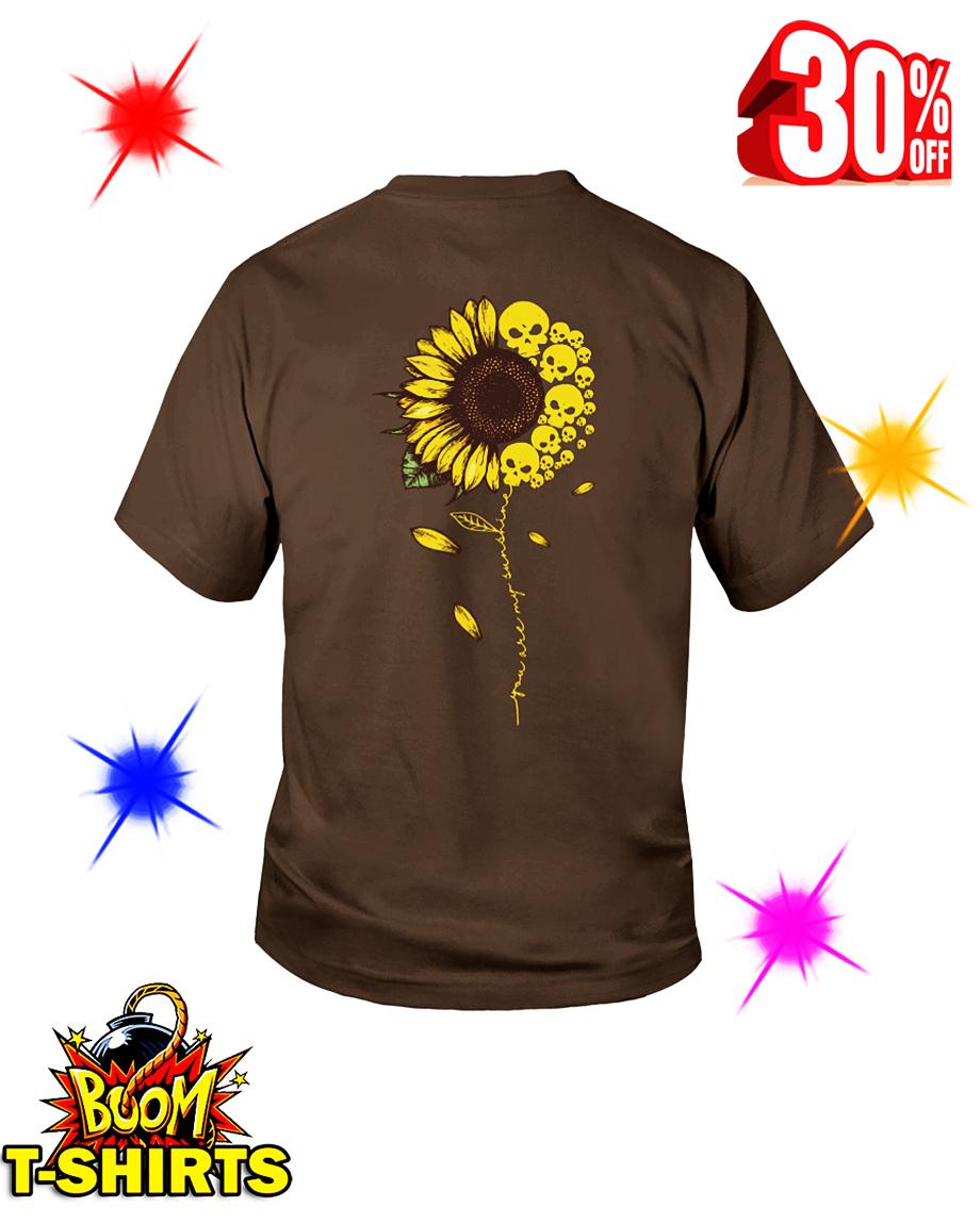 You Are My Sunshine Skull Sunflower youth tee