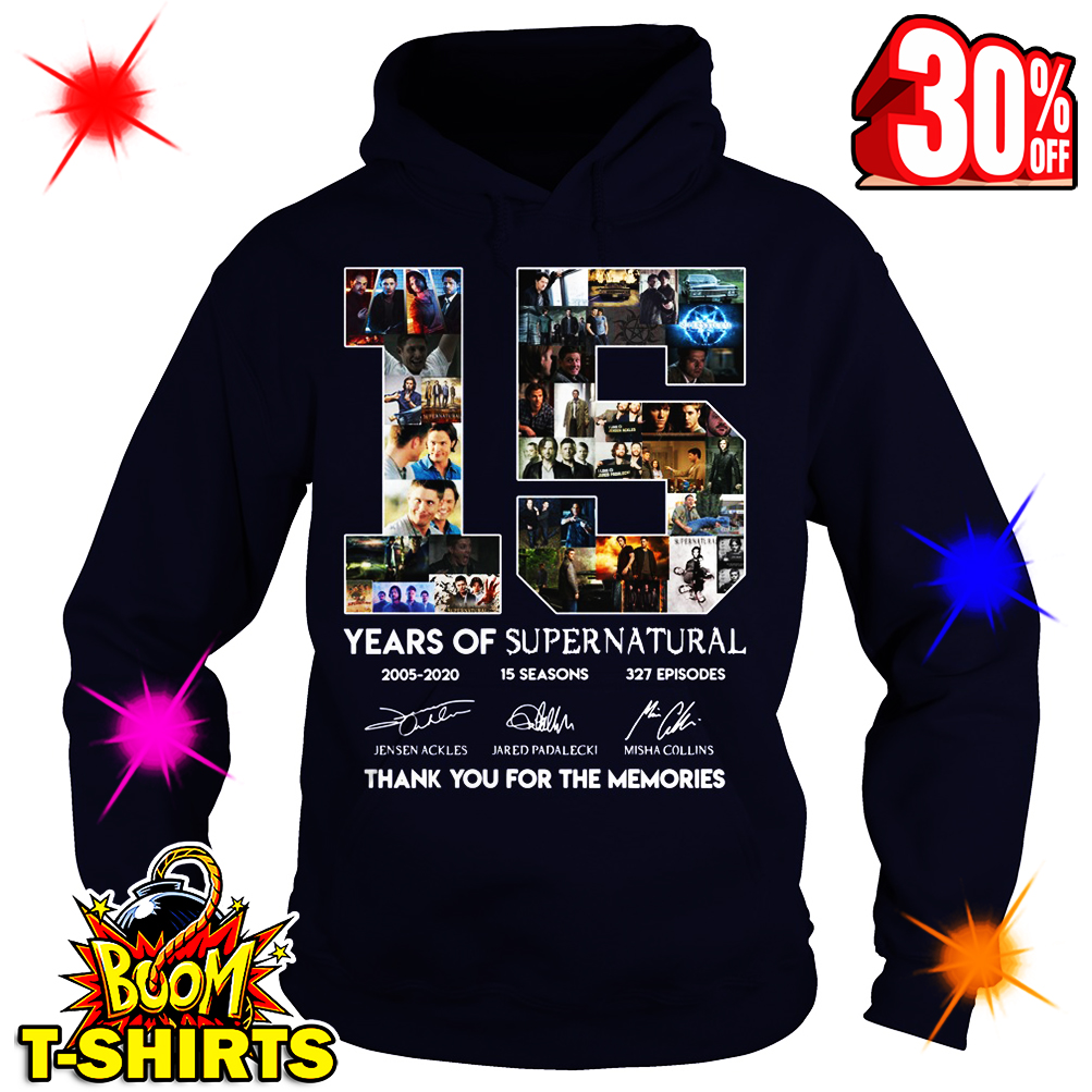 15 Years Of Supernatural Thank You For The Memories hoodie