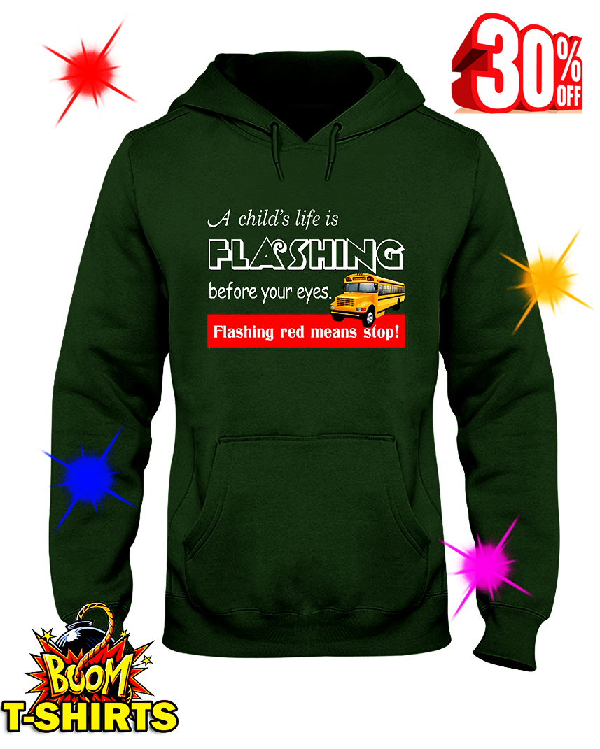 A Child's Life is Flashing Before Your Eyes Flashing Red Means Stop hooded sweatshirt