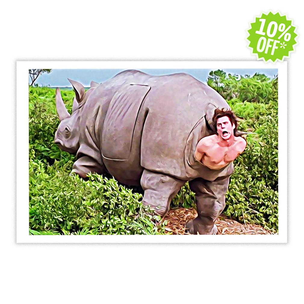 Ace Ventura Rhino Scene 24x16 Poster