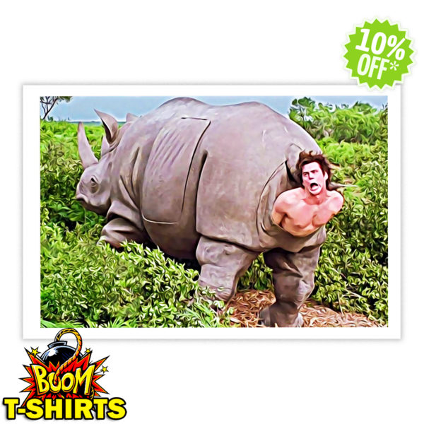 Ace Ventura Rhino Scene Poster