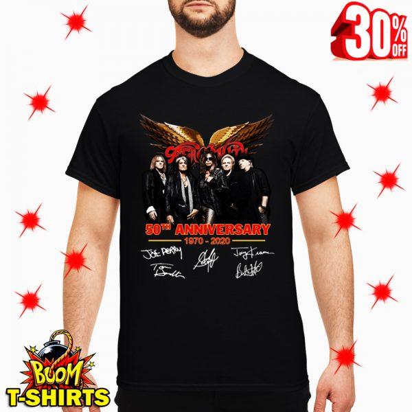 Aerosmith 50th Anniversary 1970 2020 Signature shirt