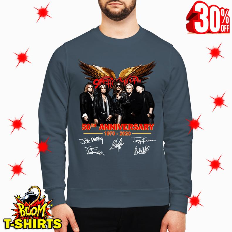 Aerosmith 50th Anniversary 1970 2020 Signature sweatshirt