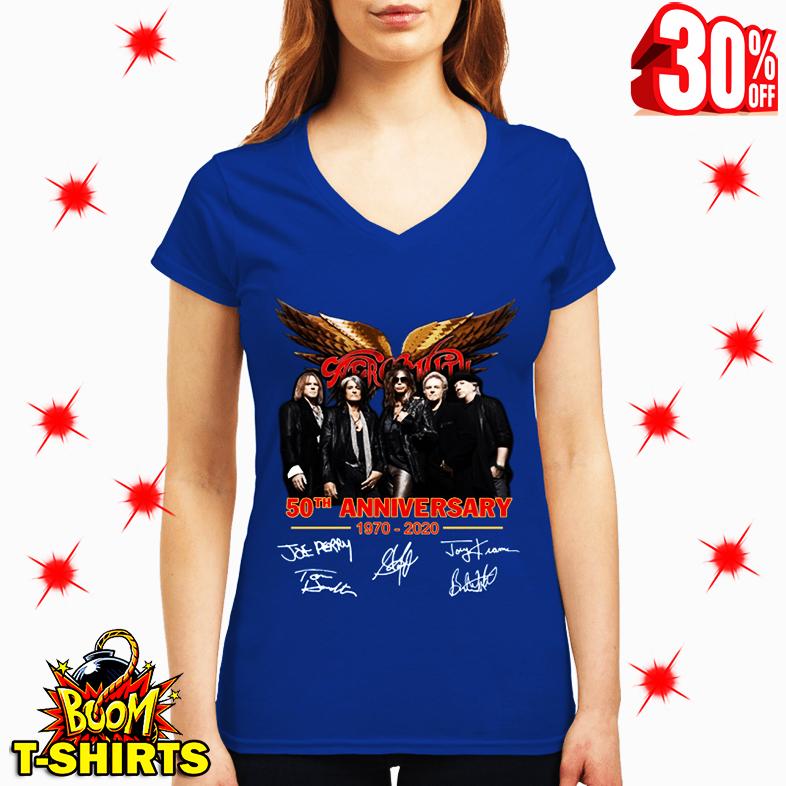 Aerosmith 50th Anniversary 1970 2020 Signature v-neck