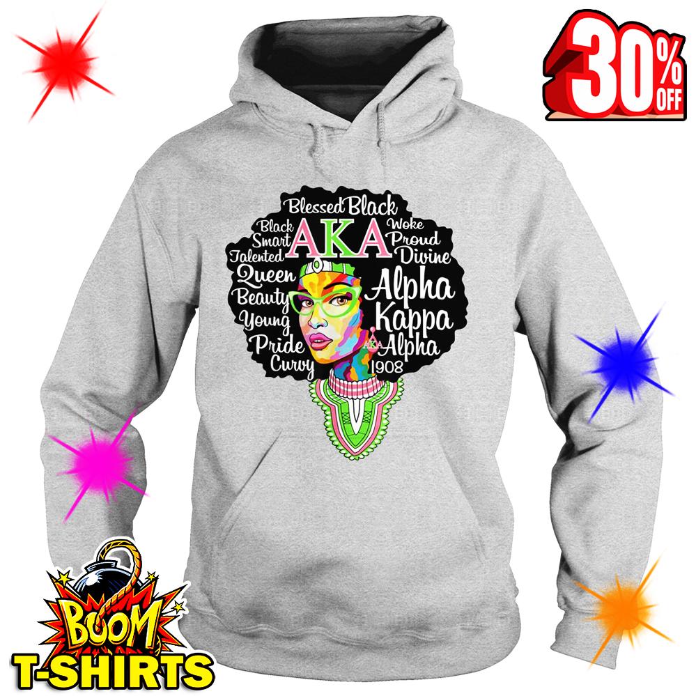 Alpha Kappa Alpha 1908 AKA Blessed Black hooded sweatshirt