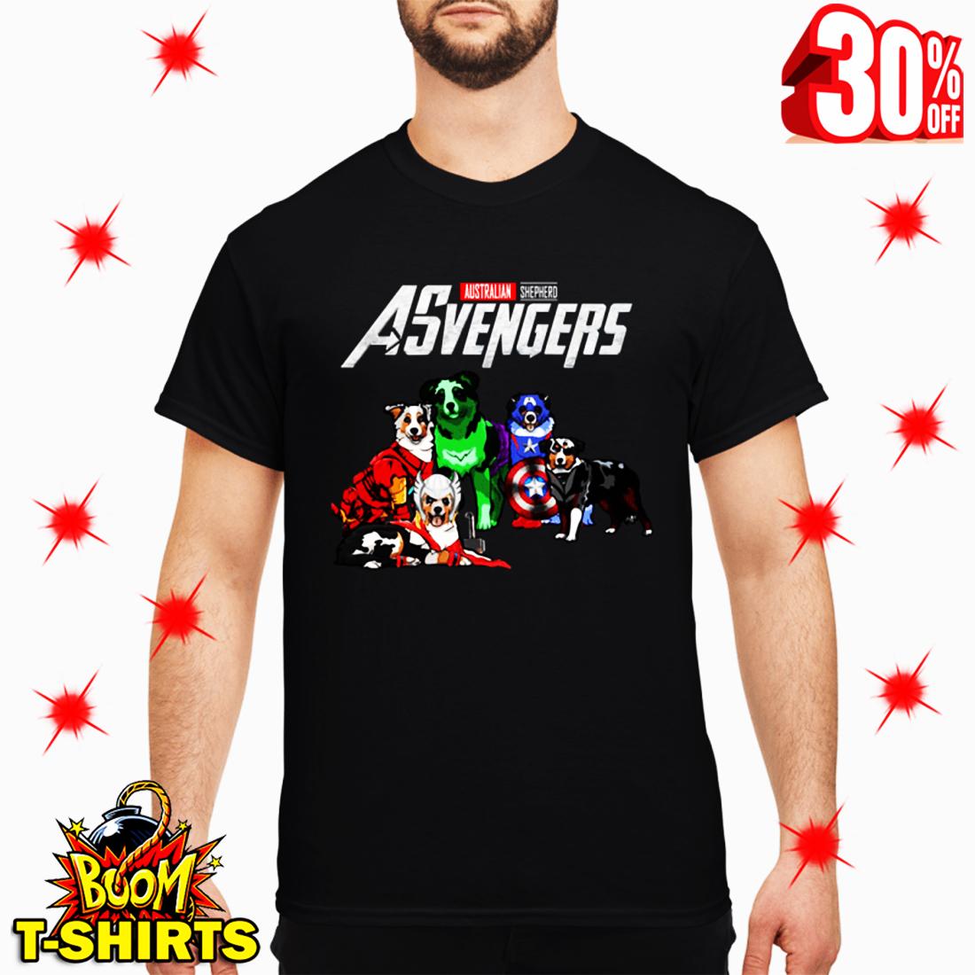 Asvengers Australian Shepherd Avengers shirt