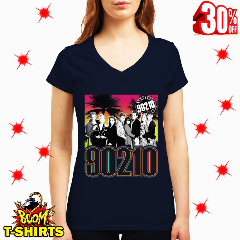 Beverly Hills 90210 Full Cast v-neck