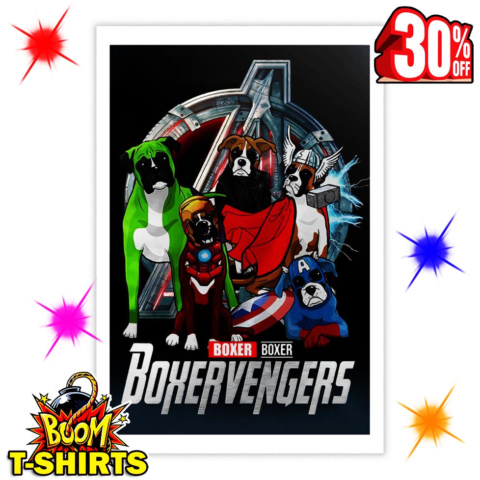 Boxer Boxervengers Avengers Endgame 16x24 Poster